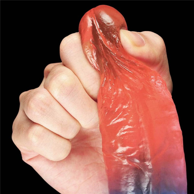 "Lovetoy 7.5"" Dazzle Studs Realistic Dildo with Suction Cup"