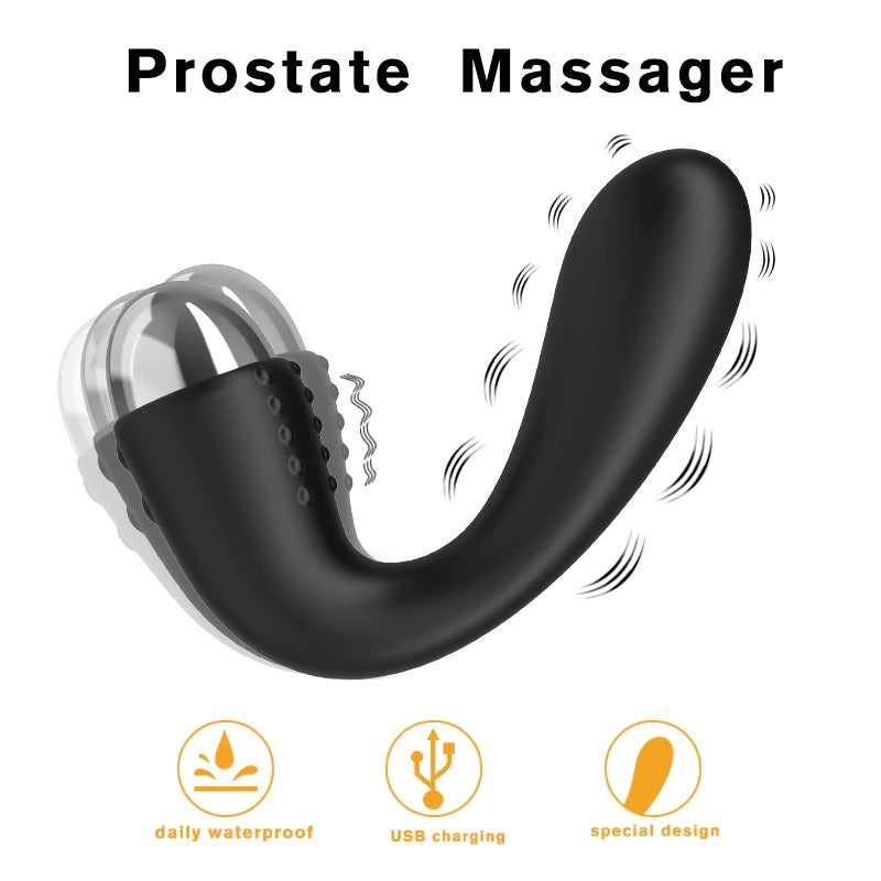 JRL 10 Modes Soft Silicone Anal Plug Vibrator Prostate Massager Smooth Edition