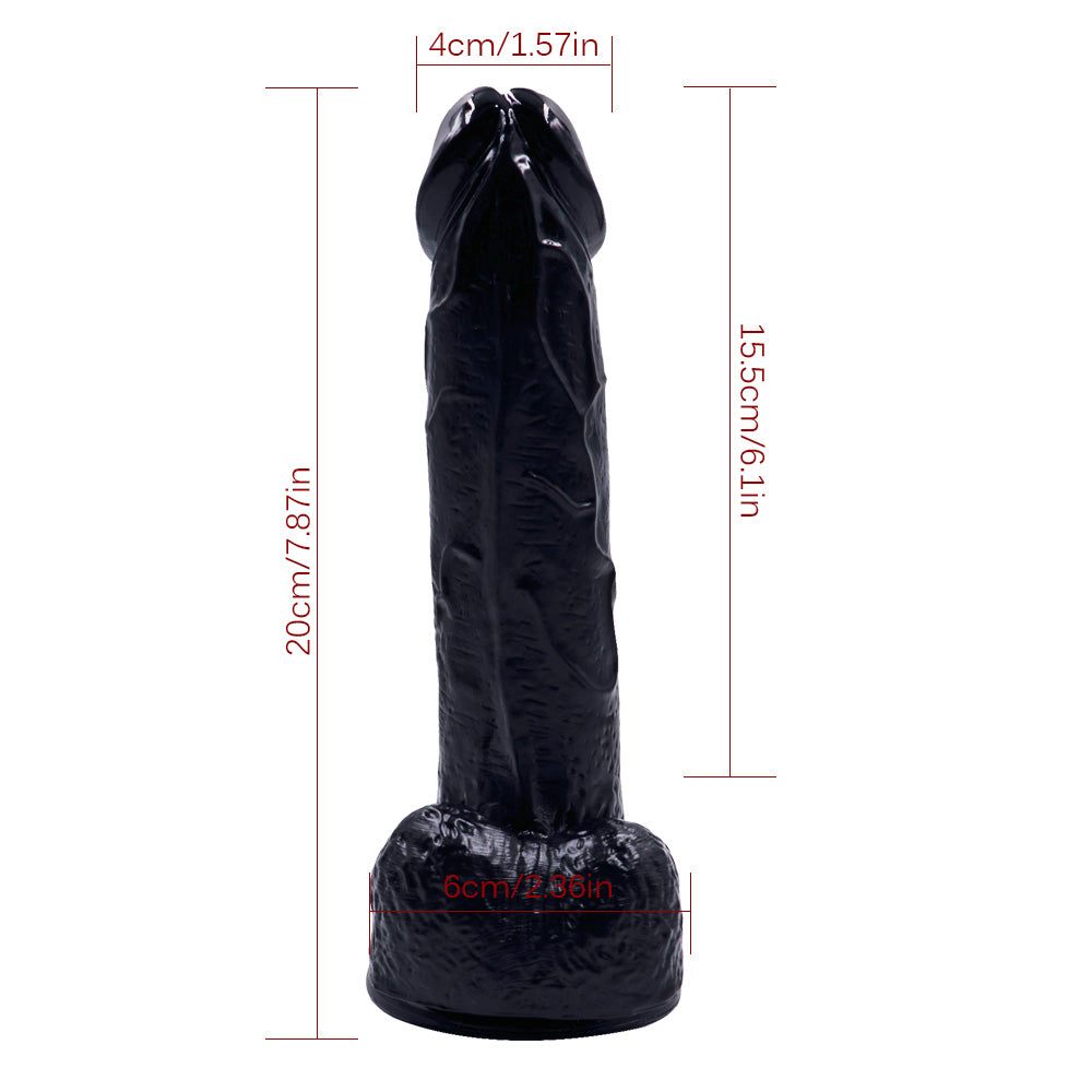 MD 20cm Realistic Dildo Dong Veined Penis Cock with Suction Cup 3 Colors