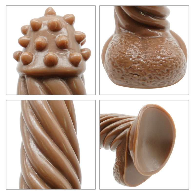 MD Desert Eagle Throne & Thread Style Silicone Dildo / Anal Plug - Brown