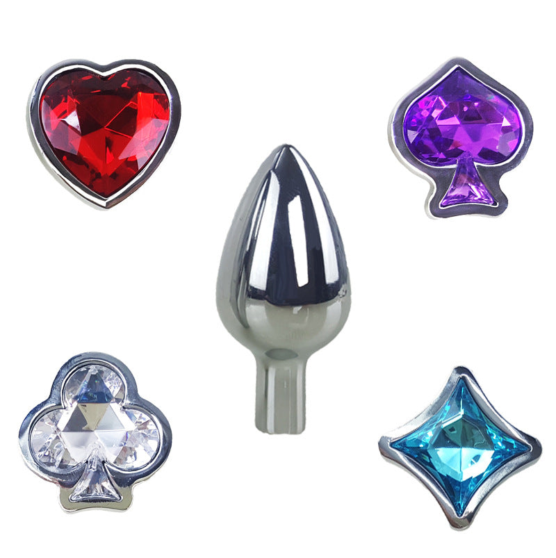JRL 4x2 Crystal Stainless Steel Anal Plug butt Plug Set Wearable Exchangeable