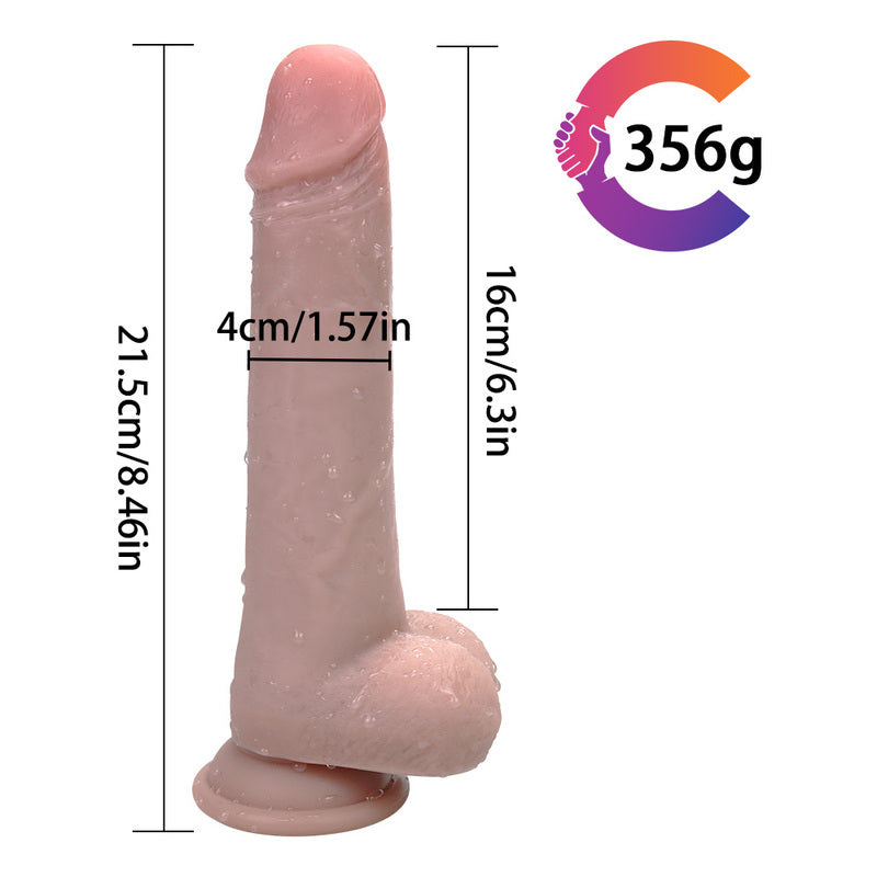 MD Skiner 21.5cm Realistic Silicone Dildo Dong with Suction Cup