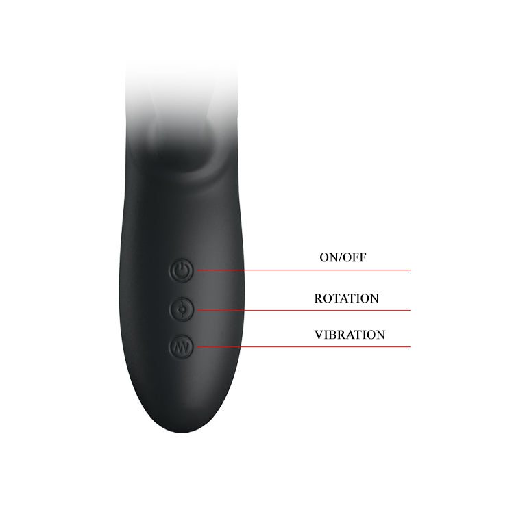 PRETTY LOVE Colin Rotating Rabbit Vibrator Clitoral G-Spot Stimulator USB Rechargeable