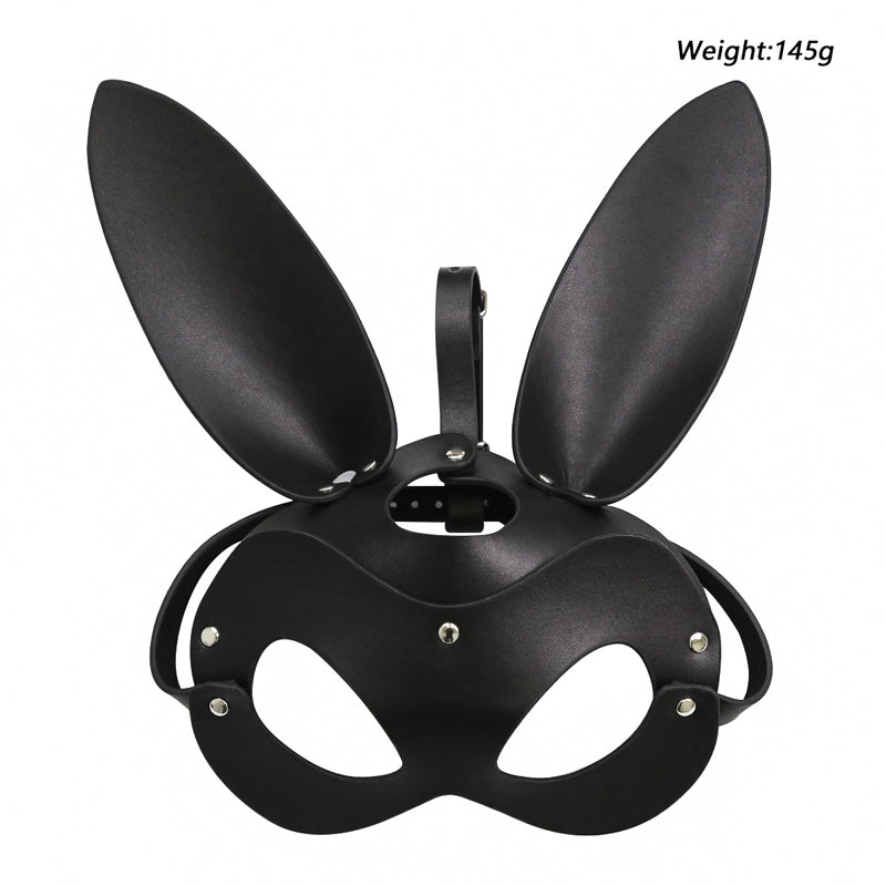 BDSM Bunny Hood Cosplay Bondage Eye Mask