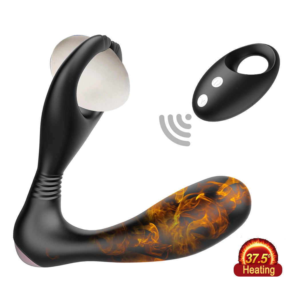 JRL Remote Control Auto-Heating Prostate Massager