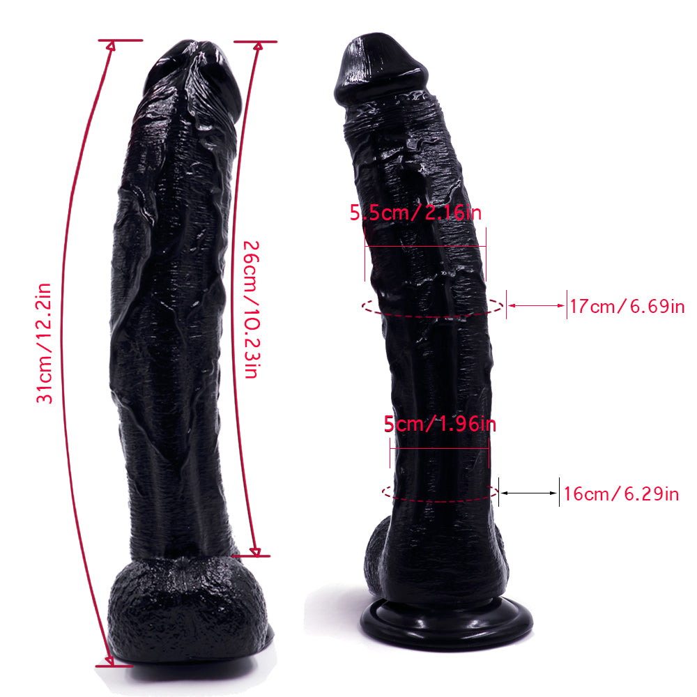 MD Titan 31cm Realistic Strap on Dildo Dong Silicone Penis Cock