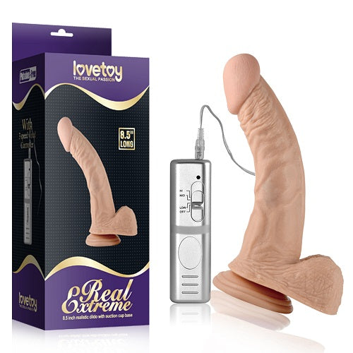 "LOVETOY 8.5"" Real Extreme Vibrating Dildo"