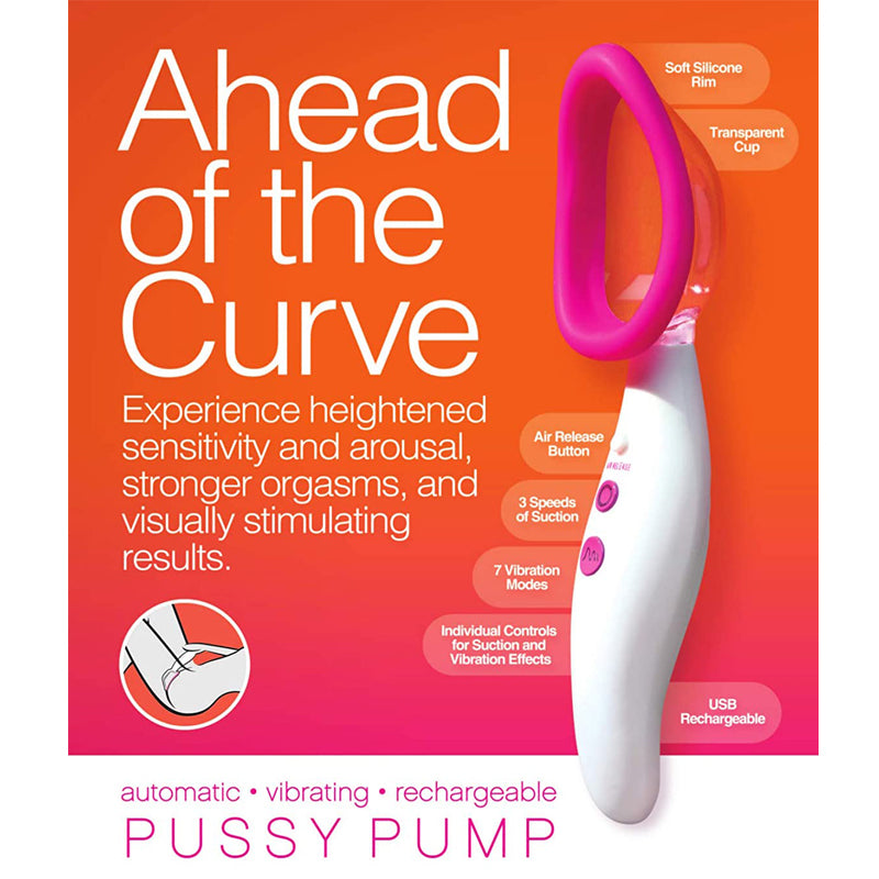 Doc Johnson Automatic Vibrating Pussy Pump USB Rechargeable