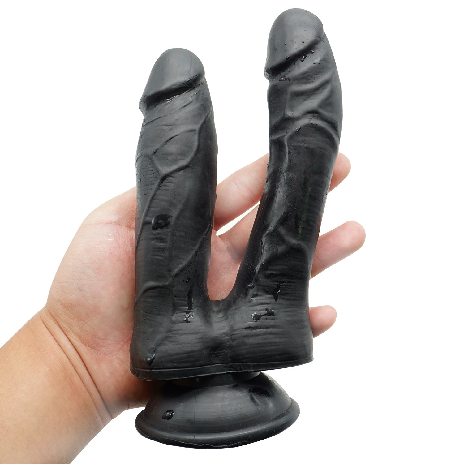 MD Fighter Realistic Double Ended Dildo - Black