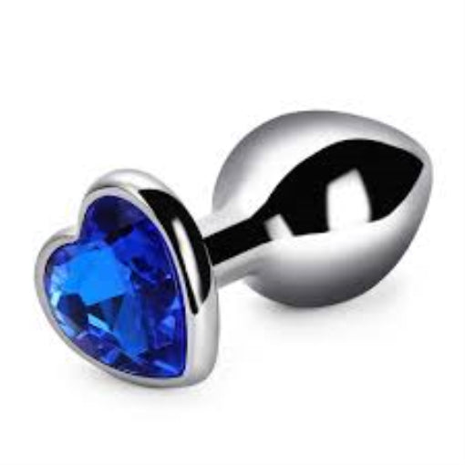 RY Heart Shape bright Crystal Jewelled Stainless Steel Anal Plug Butt Plug Size S/M/L
