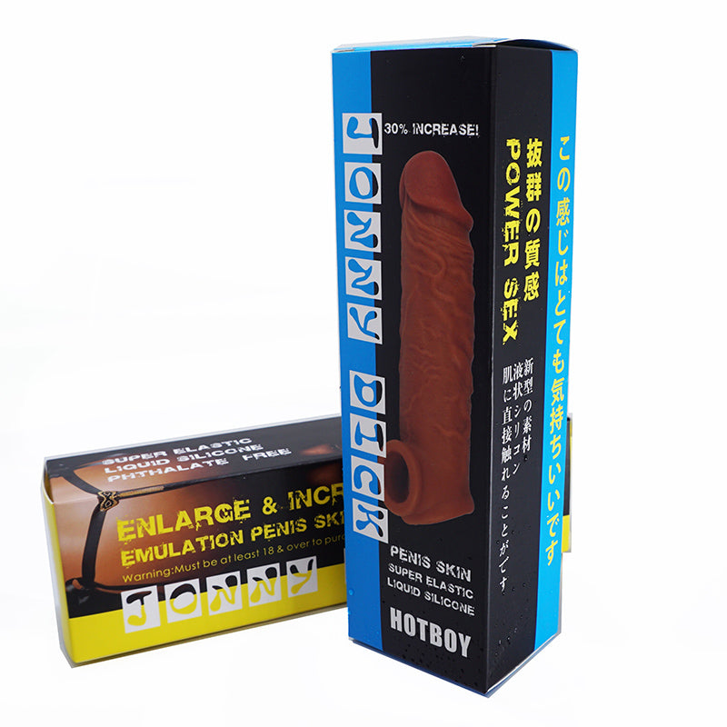 HOTBOY Thorn Style Penis Sleeve Extender Cock Ring Extension