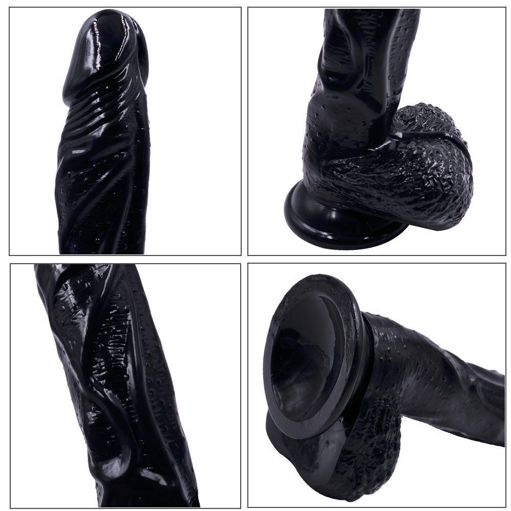 MD 22.5cm Silicone Dildo Dong Realistic Penis Cock 3 Colors