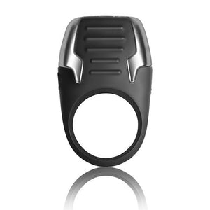Xerus C Ring Black Rechargeable & Waterproof Vibrating Cock Ring
