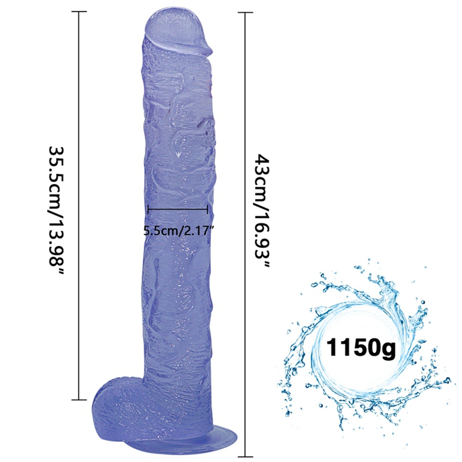 MD Legend 45cm Realistic Dildo Dong Large Penis Cock with Suction Cup