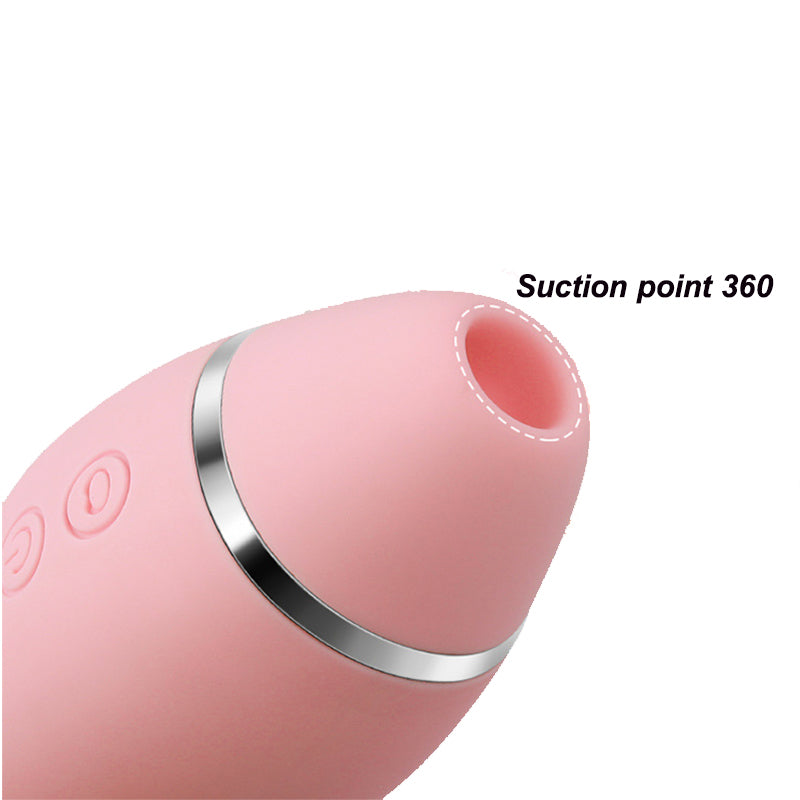 LEYI Happy Moe Sucking Bullet Vibrator Clitoris Stimulator Oral Suction Massager