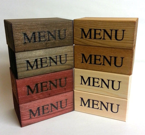 Custom Menu Holders