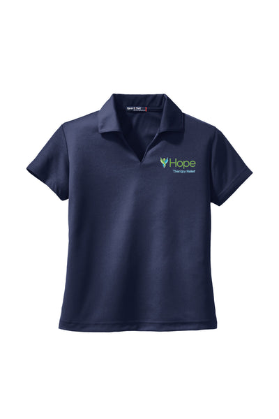 HOPE THERAPY RELIEF Ladies Golf Polo