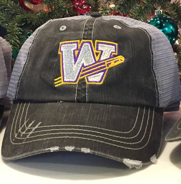 Williamsville Bullets Distressed Trucker Hat