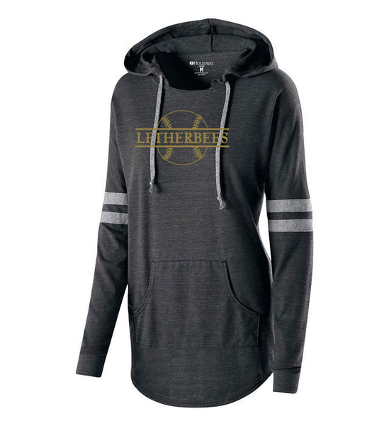 LETHERBEES BASEBALL Low Key Ladies Hooded Pullover