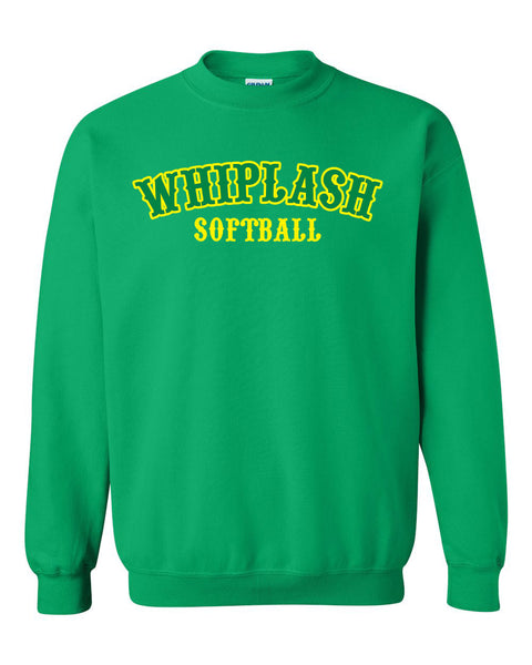 WHIPLASH SOFTBALL UNISEX CREW SWEATSHIRT (P.18000)