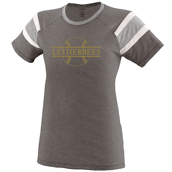 LETHERBEES BASEBALL Ladies Fanatic Tee