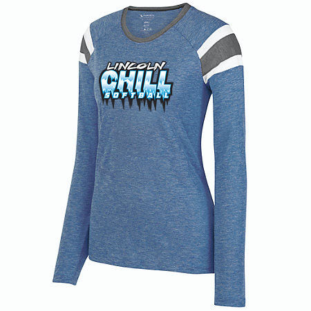 Lincoln Chill Softball Ladies Long Sleeve Fanatic Tee
