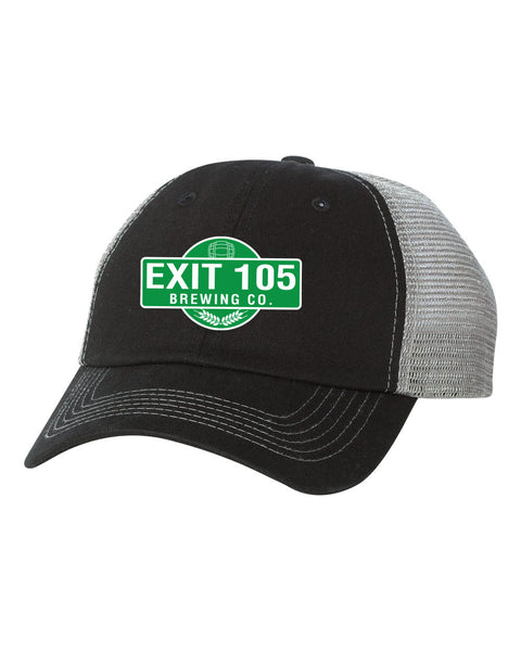 Exit 105 Brewing Adult Contrast Stitch Mesh Cap