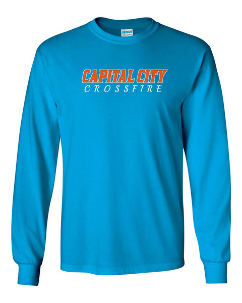 CAPITAL CITY CROSSFIRE SOFTBALL UNISEX LONG SLEEVE TEE (P.GILD2400)