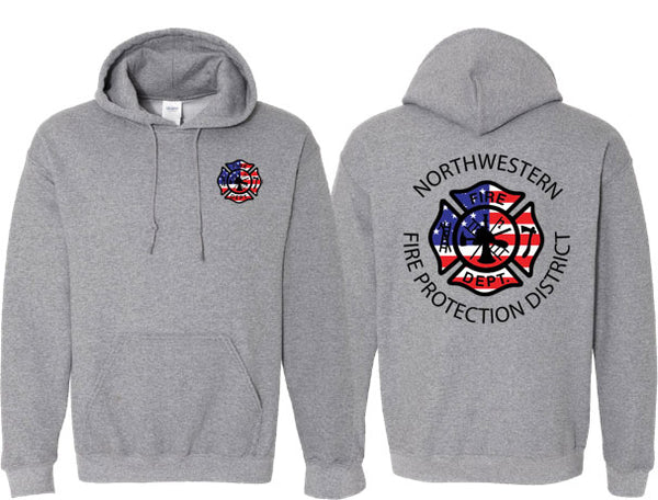 Northwestern Fire Department UNISEX HOODIE