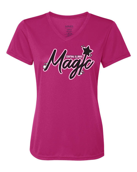 Central IL Magic Softball Ladies V-Neck DriFit Shirt