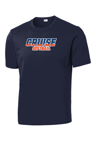 CRUISE SOFTBALL UNISEX PERFORMANCE SHORT SLEEVE TEE (P.ST350)