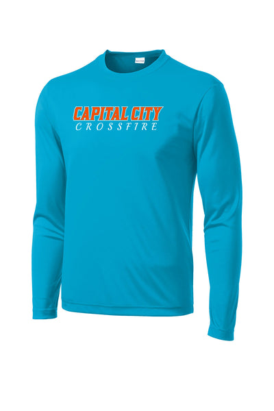 CAPITAL CITY CROSSFIRE SOFTBALL UNISEX DRIFIT LONG SLEEVE TEE (P.ST350LS)