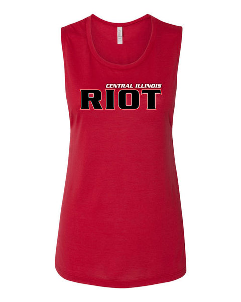RIOT SOFTBALL LADIES MUSCLE TANK