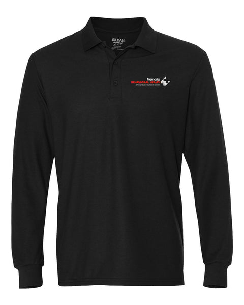 Memorial Behavioral Health (CHILDREN'S CENTER) Unisex GILDAN Long Sleeve Polo