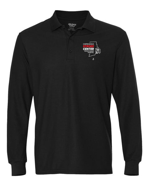 RI Hospital Stroke Center Unisex SPORT TEK Long Sleeve Polo
