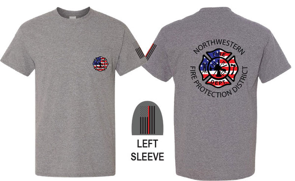 Northwestern Fire Department UNISEX POCKET T-SHIRT