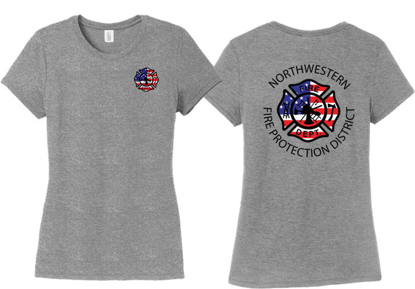 Northwestern Fire Department LADIES CREW T-SHIRT