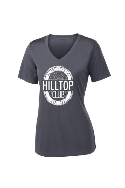 Hilltop Club Ladies Performance Vneck Shirt