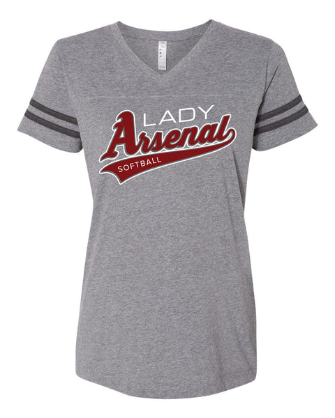 LADY ARSENAL Ladies V-Neck Jersey Tee