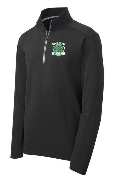 Capital City Boxing Club UNISEX Textured 1/4 Zip (E.ST860)