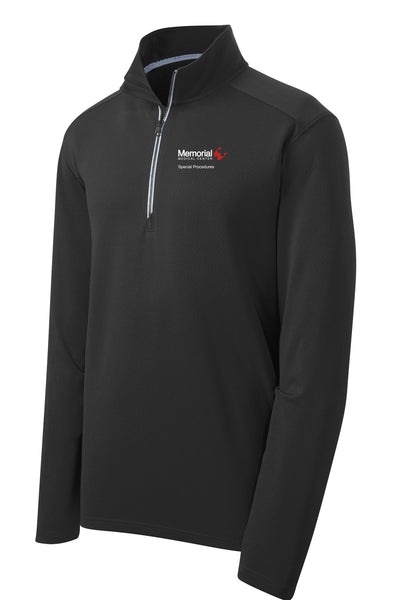 Memorial Special Procedures Unisex Sport Tek Textured Quarter Zip