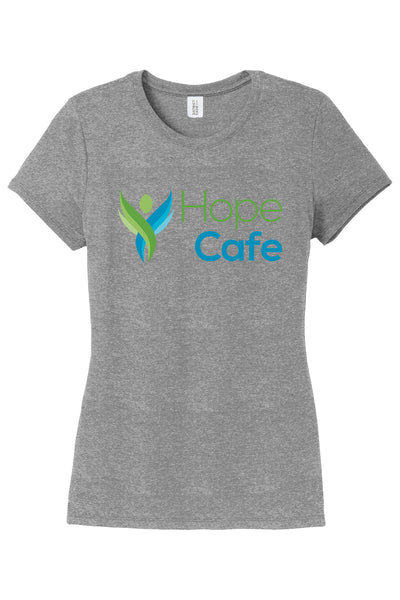 HOPE CAFE Ladies Crew Tshirt