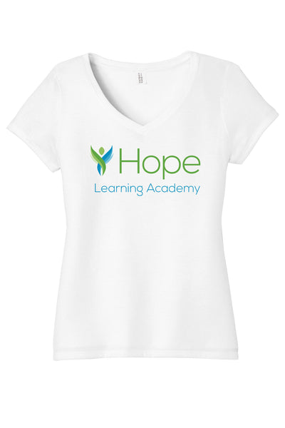 HOPE LEARNING ACADEMY CHICAGO Ladies V-Neck Tee