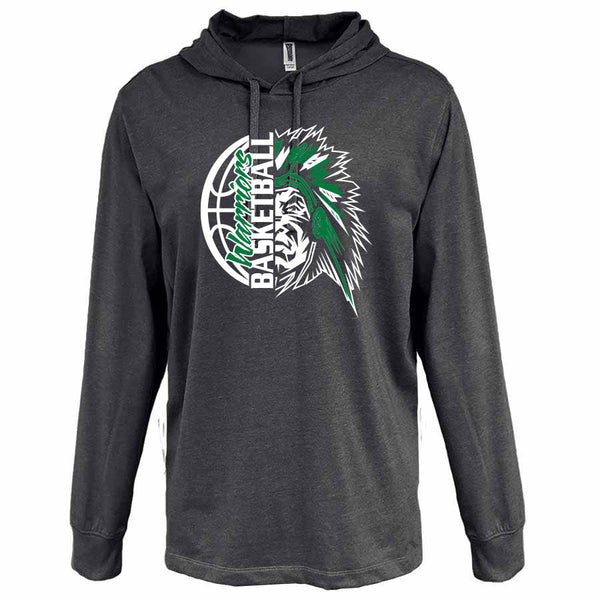 *SALE* 2019 AJHS BASKETBALL UNISEX PENNANT HEATHER JERSEY HOODIE