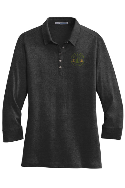 Elkhart Grain Co Ladies 3/4 Sleeve Meridian Polo (E.L578)