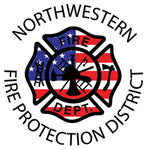 Northwestern Fire Department WINDOW STICKER