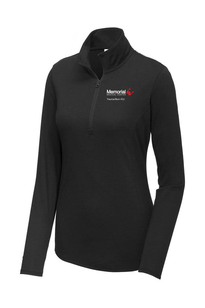 Memorial Burn ICU Ladies Quarter Zip (E.LST407)