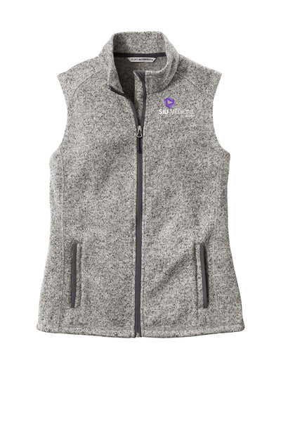 SIU Medicine Pediatrics Ladies Fleece Vest (E.L236)