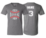 Athens Baseball Mom Unisex V-NECK (Grey)