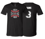 Athens Baseball Mom Unisex V-NECK (Black)